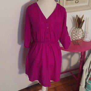 Mimi Chica L Bright Purple Dress